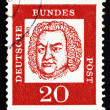 Postage stamp Germany 1963 Johann SebastiBach, Composer — Stock Photo #14259999