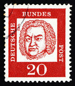 Postage stamp Germany 1963 Johann Sebastian Bach, Composer — Stock Photo
