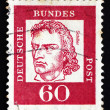 Postage stamp Germany 1962 Friedrich von Schiller - Stock Photo