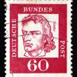 Постер, плакат: Postage stamp Germany 1962 Friedrich von Schiller