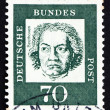 Stock Photo: Postage stamp Germany 1961 Ludwig vBeethoven, Composer