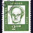 Stock Photo: Postage stamp Germany 1962 Gerhart Hauptmann, Dramatist and Nove