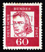 Postage stamp Germany 1962 Friedrich von Schiller — Stock Photo