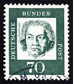 Znaczek niemcy 1961 ludwiga van beethovena, kompozytor — Zdjęcie stockowe