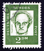 Postage stamp Germany 1962 Gerhart Hauptmann, Dramatist and Nove — Stock Photo