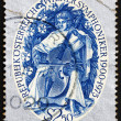 Stock Photo: Postage stamp Austri1975 Stylized MusiciPlaying Viol