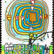 Stock Photo: Postage stamp Austri1975 Spiral Tree, by Hundertwasser
