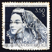 Postage stamp Austria 1968 Bride with Lace Veil — Stock Photo