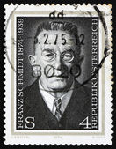 Postage stamp Austria 1974 Franz Schmidt, Composer, Cellist and — Stock Photo