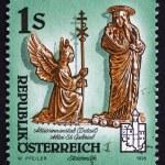 Postage stamp Austria 1995 Detail of Abbesse — Stock Photo