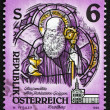 Postage stamp Austria 1993 Stained Glass Painting — Stock Photo