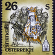 Postage stamp Austria 1995 Sculpture of Mater Dolorosa - Stock Photo
