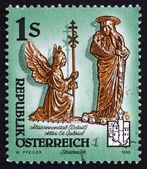 邮票 1995 年奥地利的 abbesse 的详细信息 — 图库照片