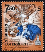 Postage stamp Austria 1994 Cupola Fresco, by Paul Troger — Stock Photo