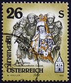 Briefmarke österreich 1995 skulptur von mater dolorosa — Stockfoto