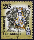 Postage stamp Austria 1995 Sculpture of Mater Dolorosa — ストック写真