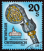 Postage stamp Austria 1993 Crosier, Fiecht Monastery, Tirol — Stock Photo