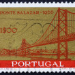 Stock Photo: Postage stamp Portugal 1964 Salazar Bridge, Lisbon