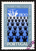 Postage stamp Portugal 1971 Missionaries and Ship — Stock Photo