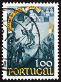 Postage stamp Portugal 1972 Death of Nuno Gonzalves — Stock Photo