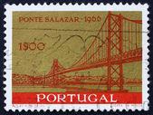 Postage stamp Portugal 1964 Salazar Bridge, Lisbon — Stock Photo