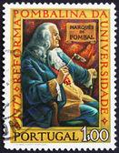 Znaczek portugalia 1972 markiza pombal — Zdjęcie stockowe