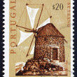 Postage stamp Portugal 1971 Mountain Windmill, Bussaco Hills — Stock Photo