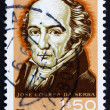 Postage stamp Portugal 1966 Jose Correa da Serra, Botanist — Stock Photo