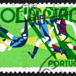 Foto Stock: Postage stamp Portugal 1972 Soccer, 20th Olympic Games, Munich