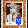 Postage stamp Portugal 1974 Damiao de Gois, by Durer - Stock Photo