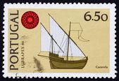 Postage stamp Portugal 1980 Caravel, ship — Stock Photo
