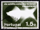 Postage stamp Portugal 1974 Pattern of Light Emission — Stock Photo