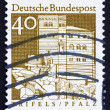 Postage stamp Germany 1967 Trifels Fortress, Palatinate, Pfalz — Stock Photo