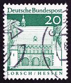 почтовая марка германии 1967 портик, lorsch, hessen — Стоковое фото