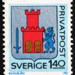 Postage stamp Sweden 1981 Arms of Bohuslan Province - Stock Photo