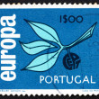 Postage stamp Portugal 1965 Leaves and Fruit, Europa CEPT — Stock Photo