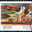 Stock Photo: Postage stamp Portugal 1978 Bicycling