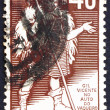 Постер, плакат: Postage stamp Portugal 1937 Gil Vicente Portuguese Playwright