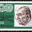 Postage stamp Portugal 1973 General Emilio Garrastazu Medici - Stock Photo