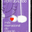 Postage stamp Portugal 1972 Heart and Pendulum — Stock Photo