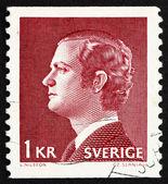 Estampilla suecia 1974 carl xvi gustaf, rey de suecia — Foto de Stock
