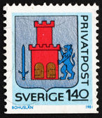 Postage stamp Sweden 1981 Arms of Bohuslan Province — Stock Photo