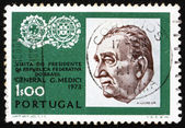Postage stamp Portugal 1973 General Emilio Garrastazu Medici — Stock Photo