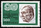 Postage stamp Portugal 1973 General Emilio Garrastazu Medici — Stock Photo