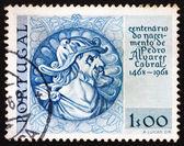Timbre-poste portugal 1969 pedro alvares cabral, navigator — Photo