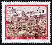 Postage stamp Austria 1984 Stams Monastery, Tirol — Stock Photo