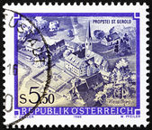 Postage stamp Austria 1986 St. Gerold�s Provostry, Vorarlberg — Stock Photo