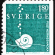 Postage stamp Sweden 1983 Planorbis Snail, Animal — Foto de stock #14656779