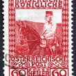 Postage stamp Austria 1908 Franz Josef on Horseback, Emperor of — Stock Photo