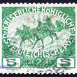 Postage stamp Austria 1915 Cavalry — Stock Photo